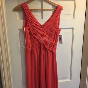 Red V-neck Maxi/Prom Dress